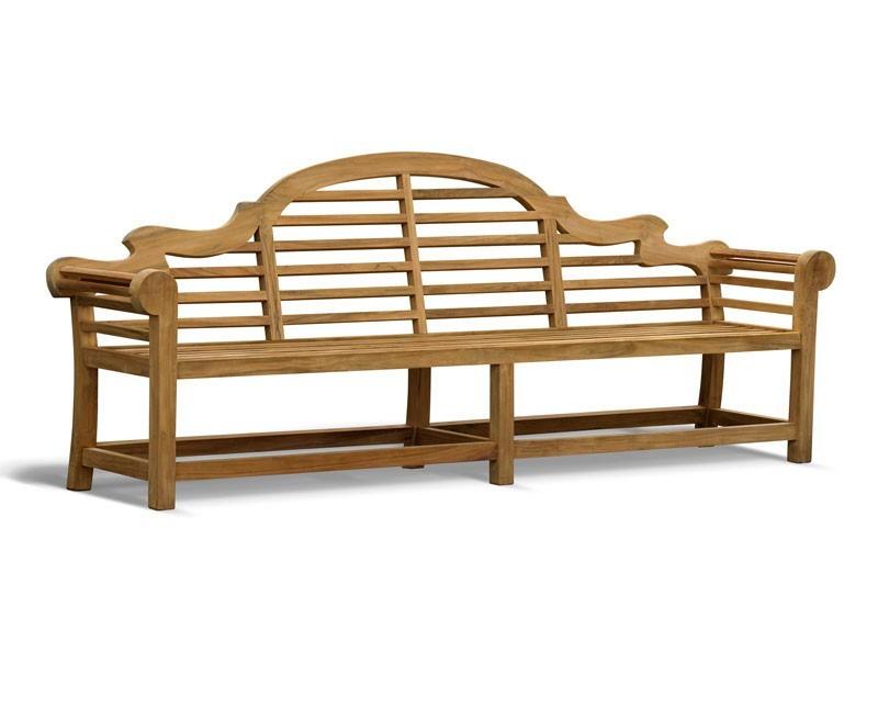 Lutyens-Style Teak High Back Garden Bench - 2.7m