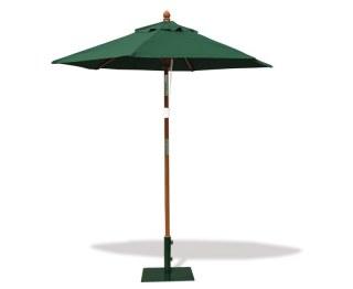 2m garden green parasol