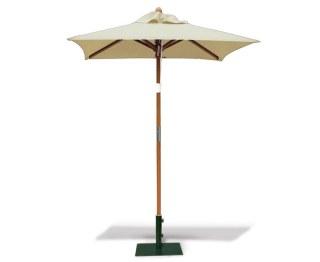 Square 1.5m Wooden Parasol