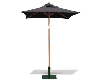Black Parasol 1.5m Square, 38mm Shaft