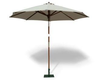 Octagonal 2.5m Wooden Parasol