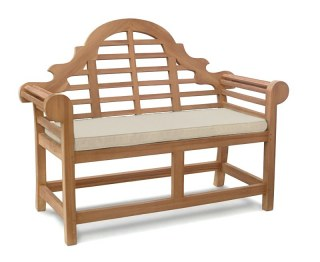 Lutyens-Style 2 Seater Bench Cushion - Natural