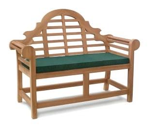 Lutyens-Style 2 Seater Bench Cushion - Green