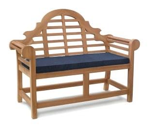 Lutyens 2 Seater Bench Cushion - Blue