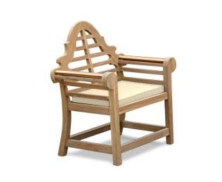 Natural Lutyens-Style Seat Pad Cushion