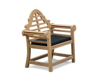 Lutyens-Style Garden Armchair Cushion in Black