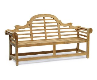 Lutyens-Style Teak High Back Garden Bench - 1.95m