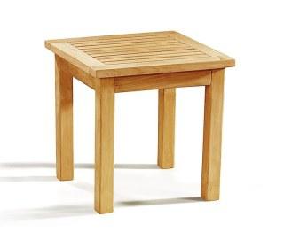 Square Teak Side Table