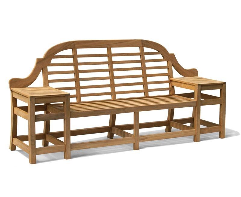 Cheltenham Teak Decorative Outdoor Bench - 2.27m