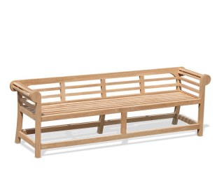 Lutyens-Style Teak Low Back Garden Bench - 2.25m