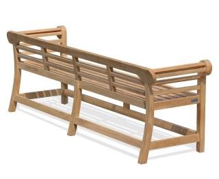 5 Seater Teak Lutyens-Style Bench Low Back