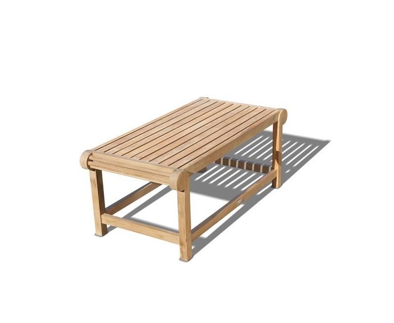Lutyens-Style Teak Outdoor Coffee Table