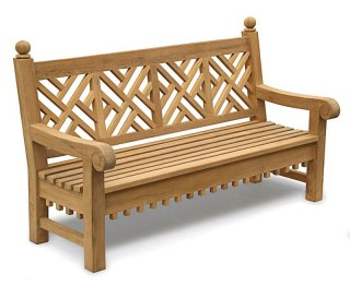 Churchill Teak Decorative Outdoor Bench - 1.8m