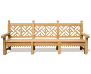 Churchill Teak Decorative Garden Bench - 2.75m