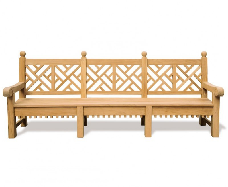 Churchill Teak Decorative Garden Bench - 2.75m
