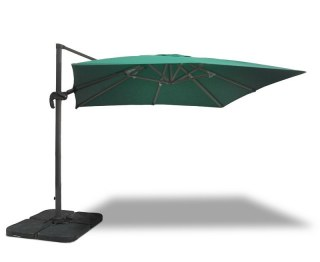 3m x 3m Green Overhanging Parasol