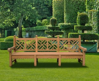 Extra Large Chinoiserie Garden Bench
