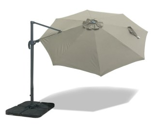 Deluxe Umbra Cantilever Parasol 3m with Rotating Canopy