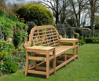 Cheltenham Teak Decorative Outdoor Bench - 2.27m