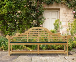 Lutyens-Style Teak Garden Bench - 2.25m by Jati