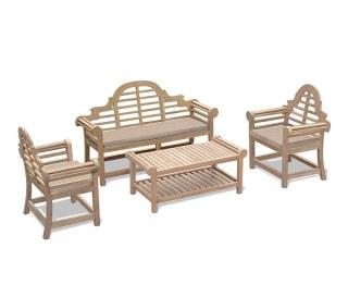 5 Seater Teak Garden Furniture Set