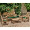 Lutyens Teak Wood Furniture Sofa Set with Cushions