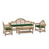 Lutyens 2.25m Bench, Chairs & Coffee Table Teak Patio Set