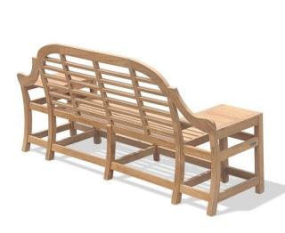 3 Seater Ornate Teak Garden Bench