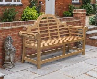 Lutyens-Style Teak Garden Bench - 1.65m