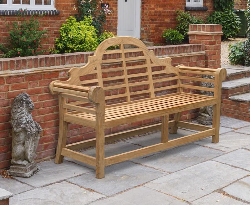 Magnificent Lutyens Teak Garden Bench 1 65M Machost Co Dining Chair Design Ideas Machostcouk