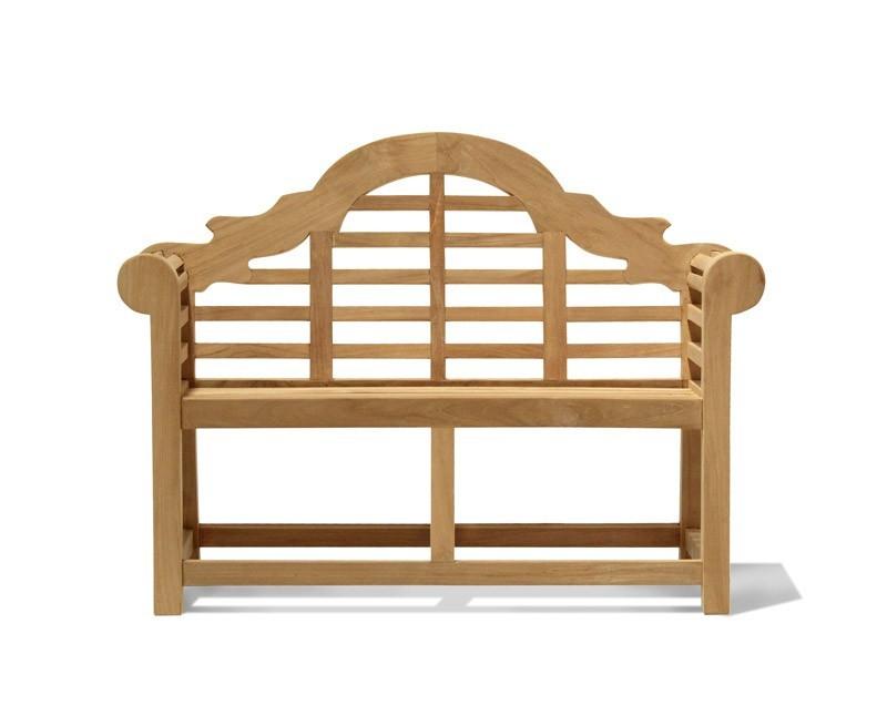 Lutyens-Style Teak Children's Decorative Garden Bench