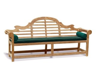 Green Garden Bench End Cushions
