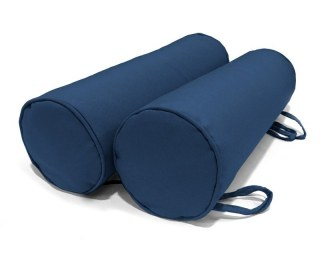 Navy Pair of Outdoor Bolster Cushions