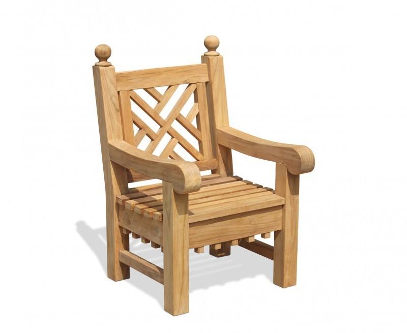 Churchill Decorative Teak Outdoor Armchair