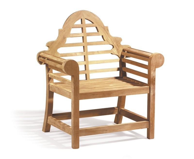 Lutyens Teak High Back Garden Armchair
