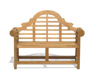 Lutyens Teak Decorative Garden Bench - 1.35m