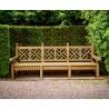 5 Seater Lutyens Style Garden Bench Lattice Back