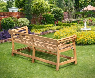 Lutyens Teak Low Back Garden Bench - 2.25m