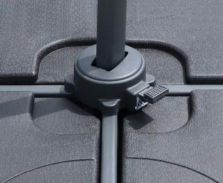 Round Cantilever Parasol Aluminium Pole