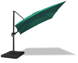 3m x 3m Square Cantilever Parasol in Green