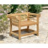 Lutyens-Style Decorative Low Back Outdoor Chair