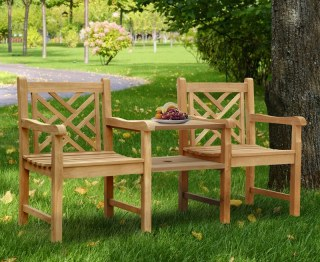 Chartwell Decorative Teak Garden Love Seat