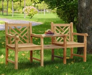 Chartwell Decorative Teak Garden Love Seat
