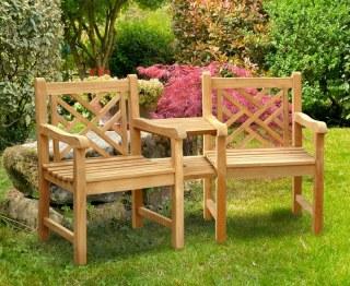 Chartwell Teak Garden Love Seat