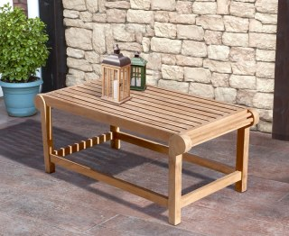 Rectangular Teak Garden Coffee Table