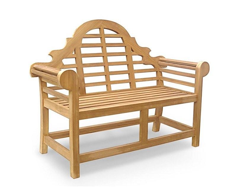 Lutyens Teak 2 Seater Garden Bench - 1.35m