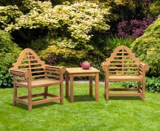 Lutyens Teak 2 Seater Garden Set