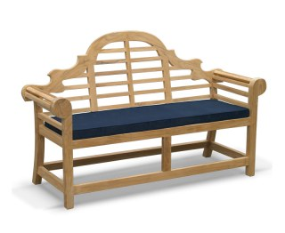 Lutyens-Style 2 Seater Bench Cushion - Blue