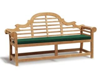 Lutyens-Style 4 Seater Bench Cushion - Green