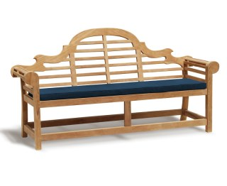 Lutyens-Style 4 Seater Bench Cushion - Blue